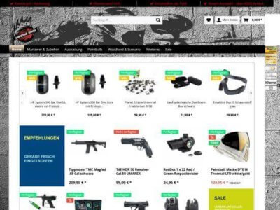 Internetshop für Paintball Produkte.